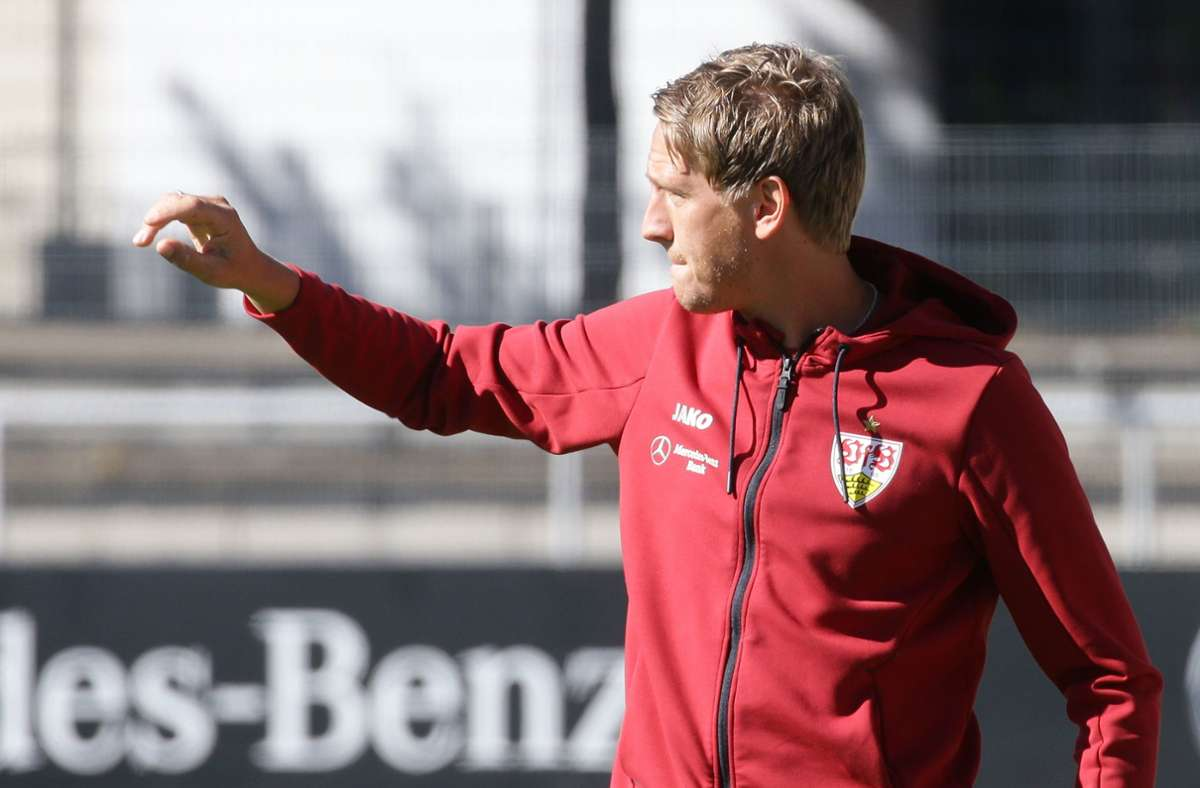 Frank Fahrenhorst und der VfB Stuttgart II gewannen deutlich bei der TSG Hoffenheim II (Archivbild). Foto: Pressefoto Baumann/Hansjürgen Britsch