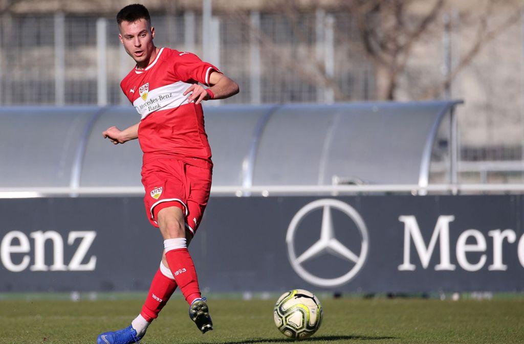 Trifft für den VfB Stuttgart II gegen den FSV Mainz 05 II: David Tomic. Foto: Baumann