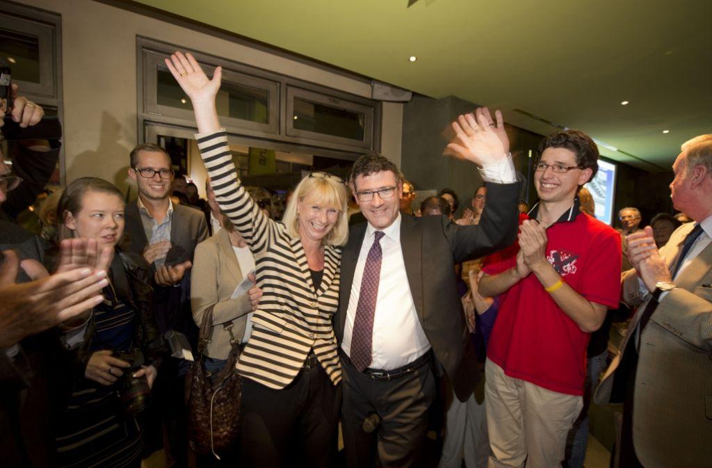 Erfolgreiches Duo: Karin Maag (links) und  Stefan Kaufmann feiern ihren gutes Abschneiden bei der vorigen Wahl. Foto: Heinz Heiss