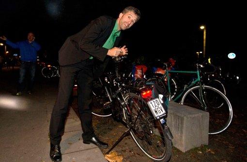 Und Boris Palmer kommt mit dem Rad