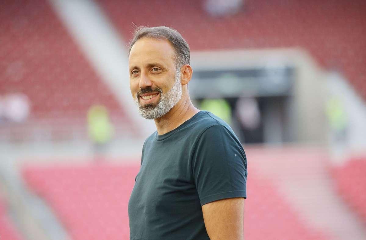 Pellegrino Matarazzo sieht in einigen VfB-Eigengewächsen Potenzial. Foto: Pressefoto Baumann/Hansjürgen Britsch