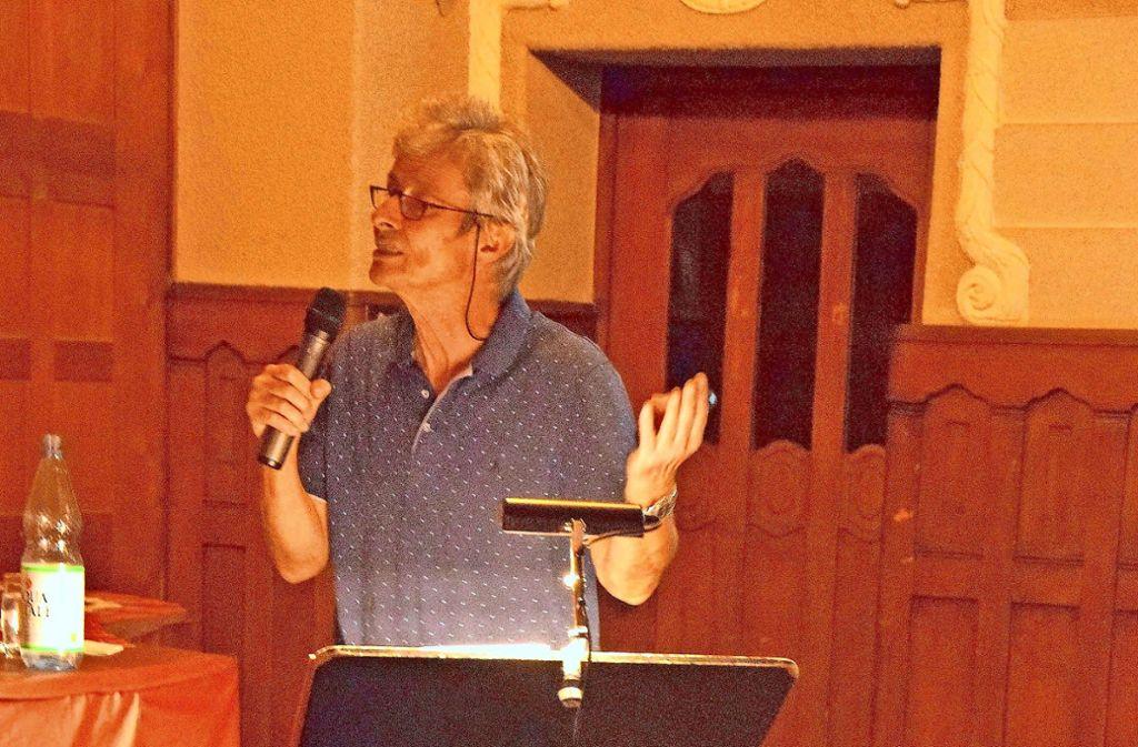 Bernhard Leibelt lüftet in der Markuskirche in einem Vortrag das Geheimnis. Foto: mos