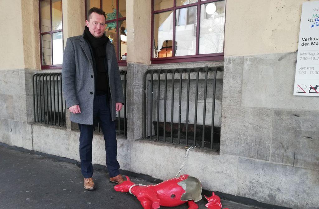 Thomas Lehmann von Märkte Stuttgart   ist verärgert. Foto: Cedric Rehman