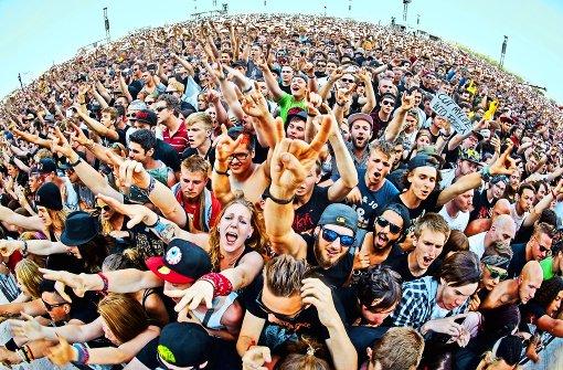 Am Freitag beginnt  wieder das Riesenfestival Rock am Ring Foto: dpa