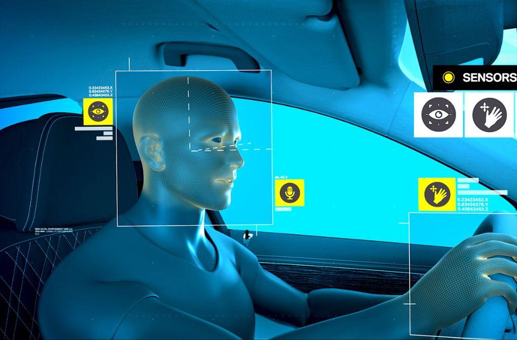 Eine Software wertet Gesichtsmerkmale wie die Augenöffnung aus: Der Autohersteller BMW plant, erste Funktionen schon ab 2021 in einem Automodell zu verbauen. Foto: BMW