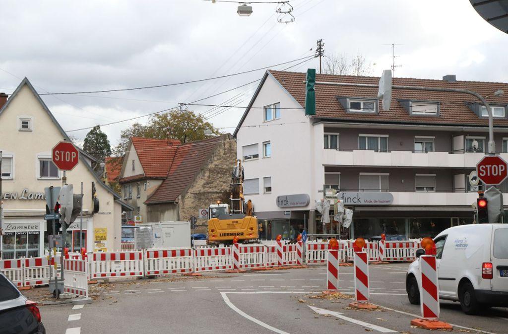In Schmiden ändert sich derzeit des öffteren die Verkehrsführung. Foto: Patricia Sigerist