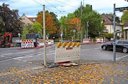Bauarbeiten an der Jahnstraße