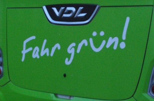 Auf grüner Fahrt