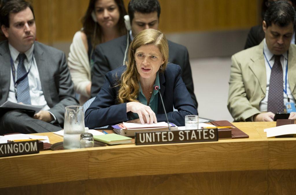 Die amerikanische UN-Botschafterin Samantha Power hat Russland scharf kritisiert. Foto: AP