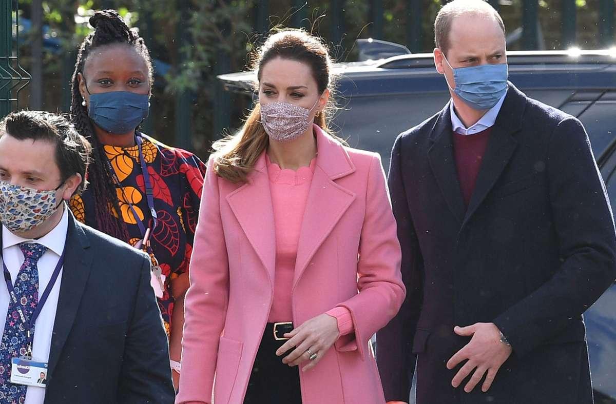 Prinz William und Herzogin Kate besuchten am Donnerstag eine Schule in London. Foto: dpa/Justin Tallis