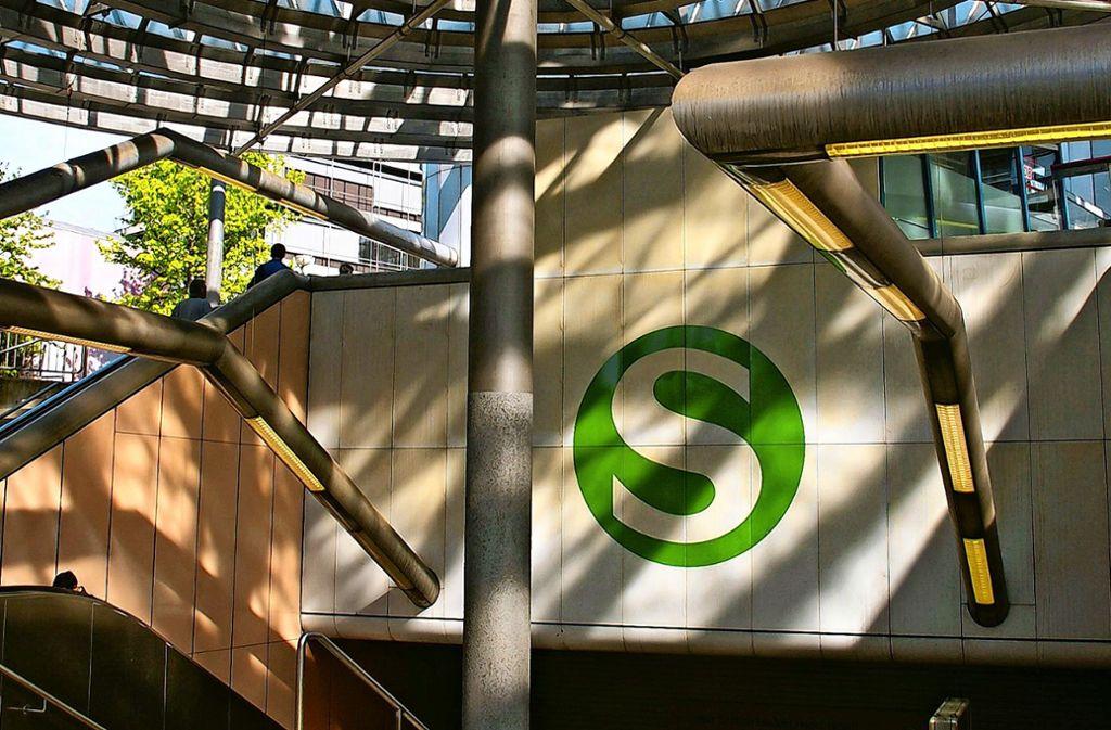 Problemfall: die S-Bahnstation auf dem Uni-Campus Vaihingen Foto: Archiv A. Kratz