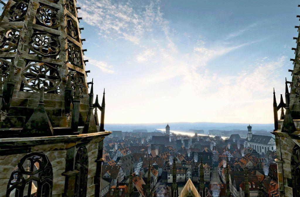 Die neue Computersoftware erlaubt den Nutzern  auch Flüge übers altehrwürdige Münster in modernster Videospielqualität. Foto: