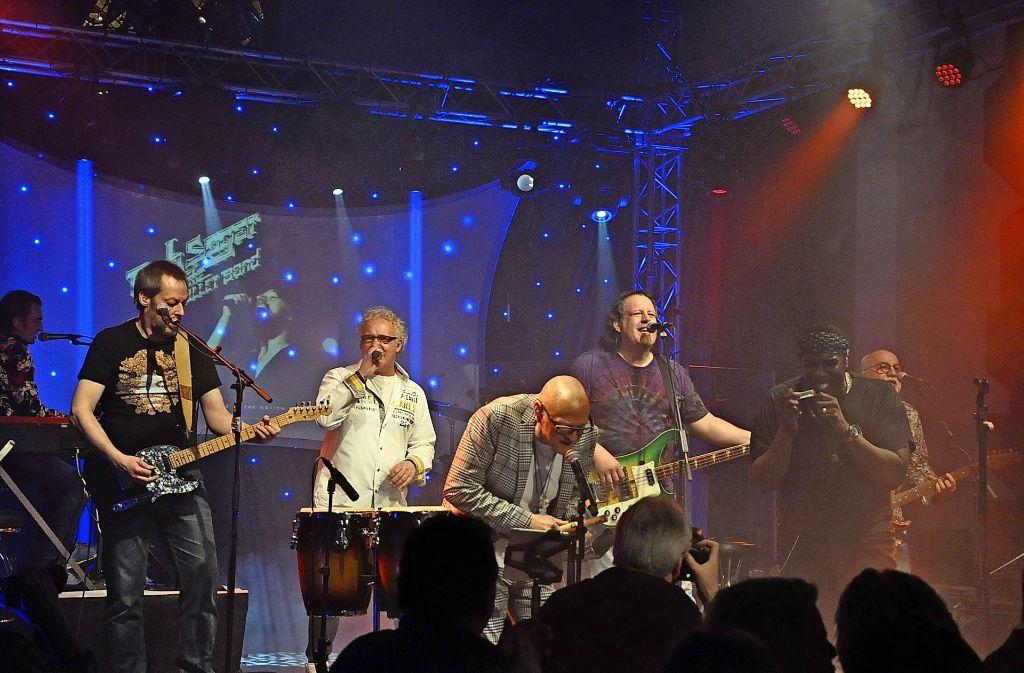 Die Rockband Risk hat in der Pauluskirche mal wieder gezeigt, was sie drauf hat. Foto: Georg Linsenmann Foto: