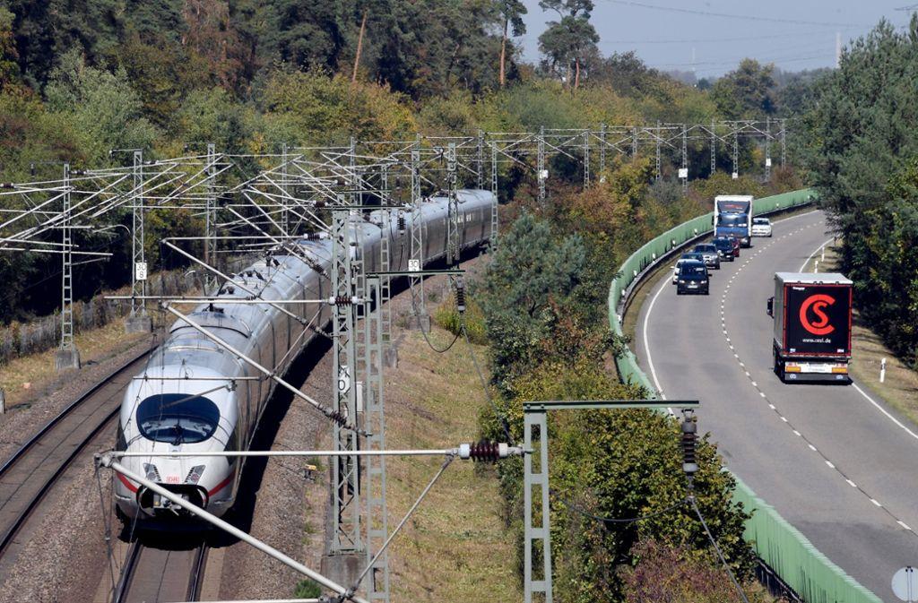 Wie geht es mit der Strecke Stuttgart-Mannheim weiter? Foto: Uli Deck/dpa/Uli Deck