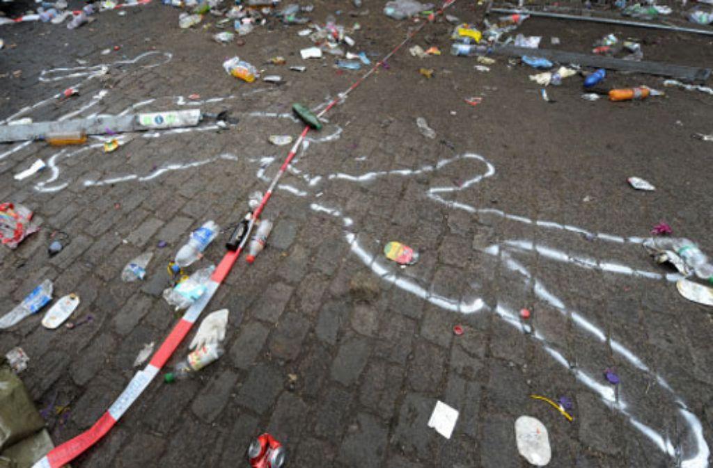 Der Unglücksort nach der Katastrophe am 25. Juli 2010 in Duisburg. Foto: dpa