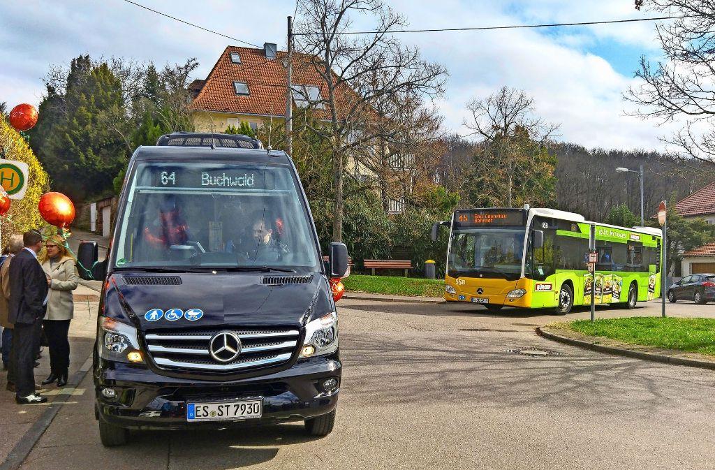 Die neue Buslinie auf die Waldebene Ost ist an der Haltestelle Buchwald an die Linie 45 angebunden, die über Gablenberg zum Cannstatter Bahnhof und zurück fährt. Foto: Jürgen Brand