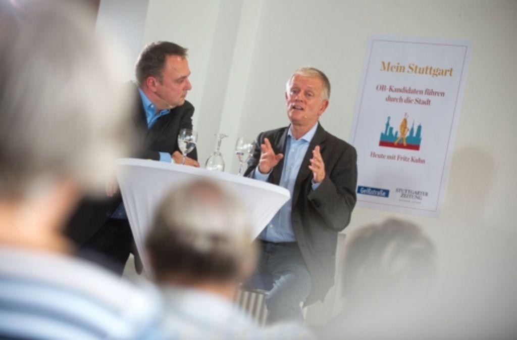 Eindrücke von der StZ-Veranstaltung und die Meinung der Leser zum Kandidaten Fritz Kuhn sehen Sie in der folgenden Bilderstrecke. Foto: Martin Stollberg