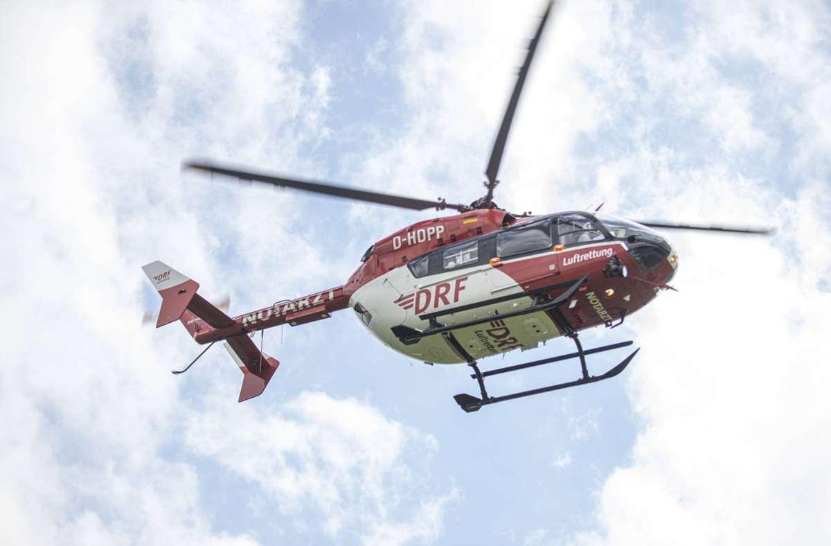 Ein Helikopter brachte den Schwerstverletzten in eine Klinik (Symbolbild). Foto: 7aktuell.de/Simon Adomat