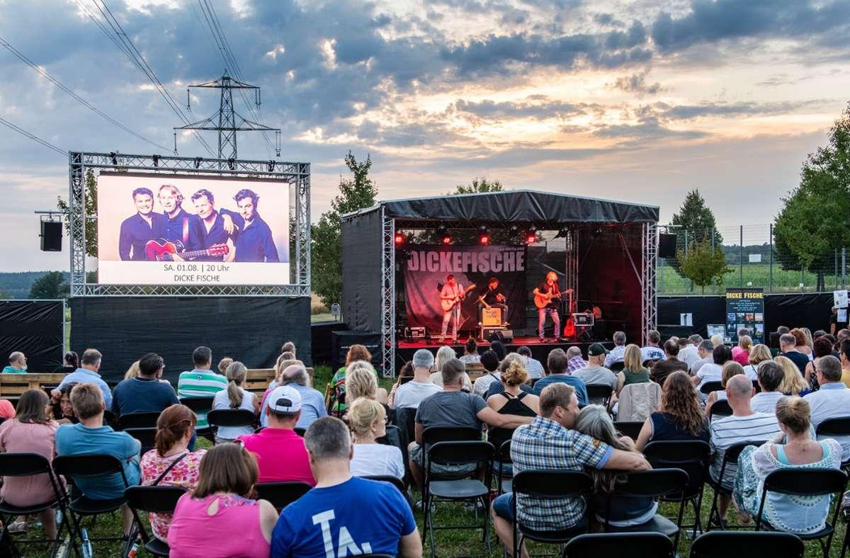"""Schon 2020 spielte die  Rockband Dicke Fische bei """"Kultur im Freien"""" in Holzgerlingen. Foto: Eibner-Pressefoto/Tyson Jopson/Eibner-Pressefoto/Tyson Jopson"""
