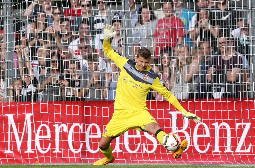 Mitch Langerak ist seit dieser Saison beim VfB Stuttgart unter Vertrag. Mit seinem ehemaligen Verein konnte er bereits einige Male gegen die Bayern gewinnen. Foto: Pressefoto Baumann