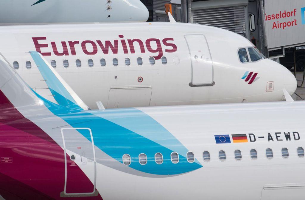 """Eurowings kündigte an, die Strecke """"zu einem späteren Zeitpunkt bedienen"""" zu wollen (Archivfoto). Foto: dpa"""