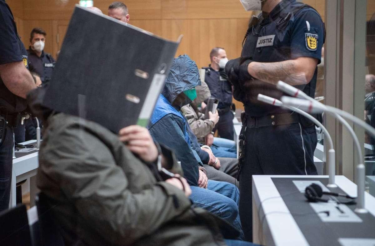 """Prozess gegen die rechtsterroristische Vereinigung """"Gruppe S."""" im Oberlandesgericht Stuttgart-Stammheim. (Archivbild) Foto: dpa"""