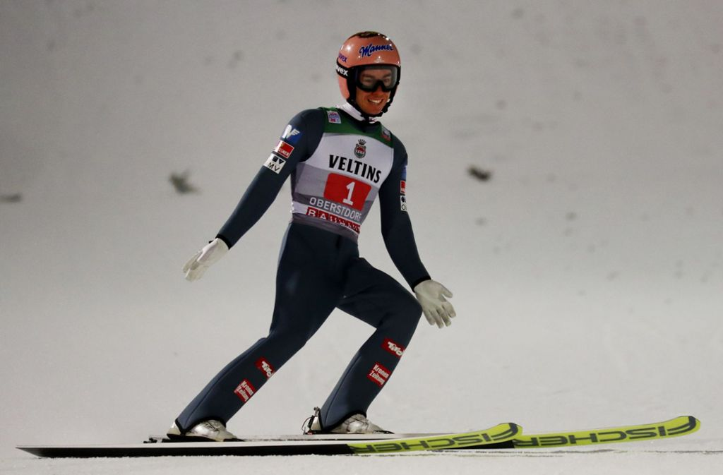 Stefan Kraft ist der beste österreichische Skispringer, kann die Tournee in diesem Jahr aber nicht mehr gewinnen. Foto: AP/Matthias Schrader