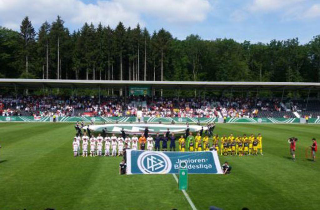 Ob sich die B-Junioren des VfB Stuttgart im Finale gegen Borussia Dortmund die achte Meisterschaft sichern, erfahren Sie bei FuPa Stuttgart im Liveticker. Foto: Philipp Maisel