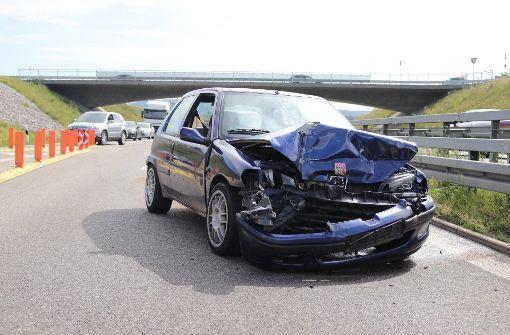 Rechts überholt und Crash verursacht