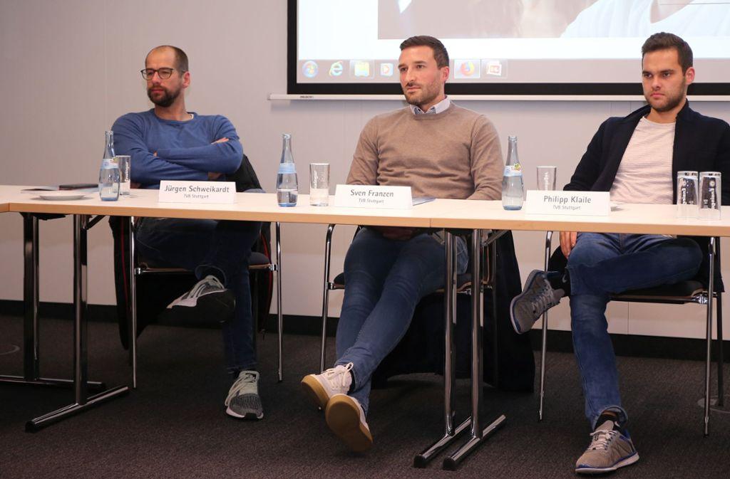 TVB-Trio: Die Geschäftsführer Jürgen Schweikardt und Sven Franzen sowie Pressesprecher Philipp Klaile (v.li.).  Foto:  Baumann