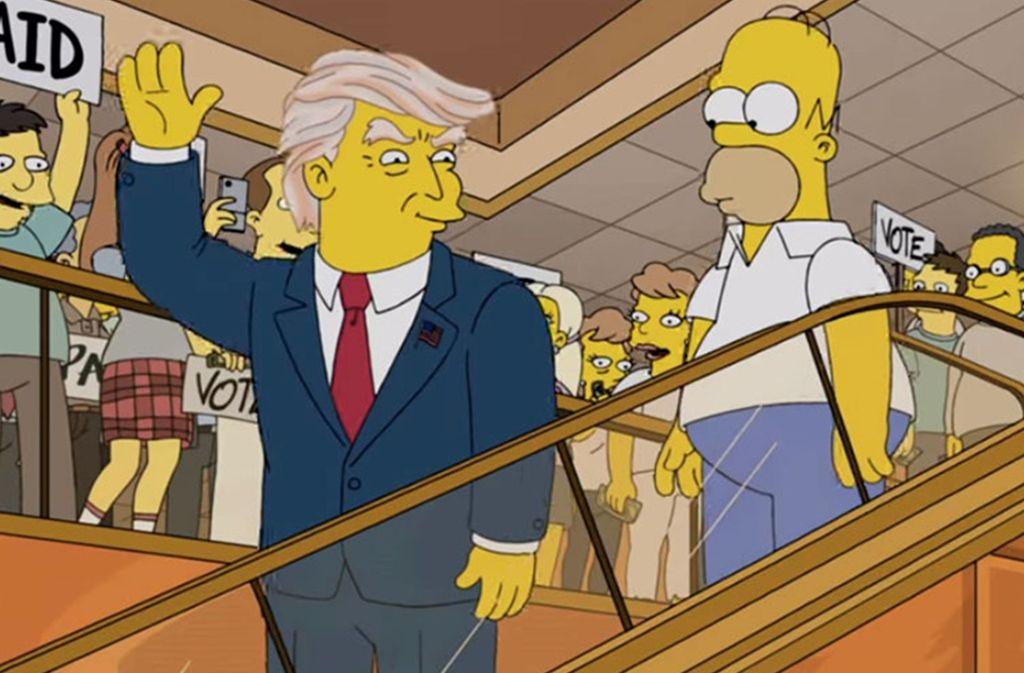 Passen zueinander wie Topf und Deckel: Donald Trump und die Welt der Simpsons. Foto: Fox