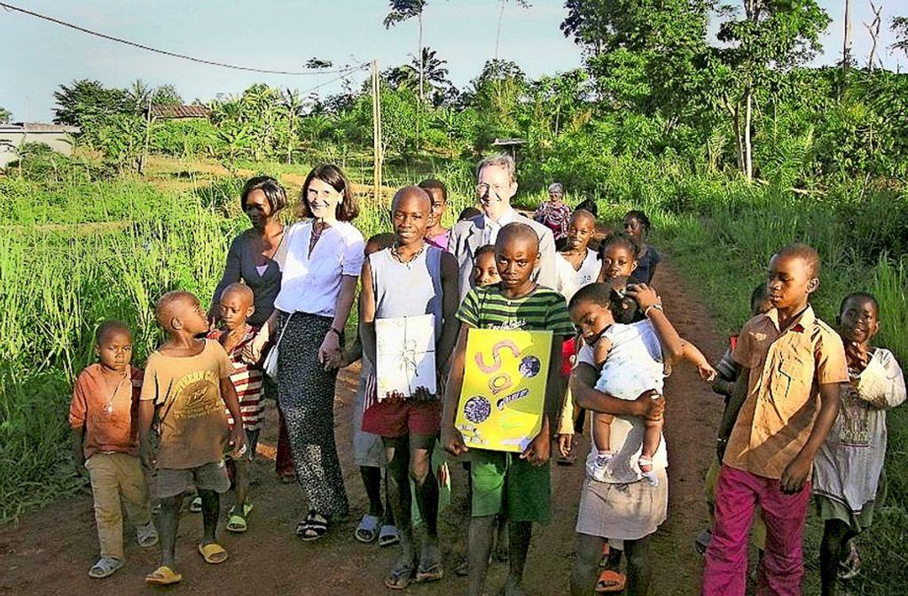 Peter Keim bei einem Besuch in Afrika vor einigen Jahren Foto: