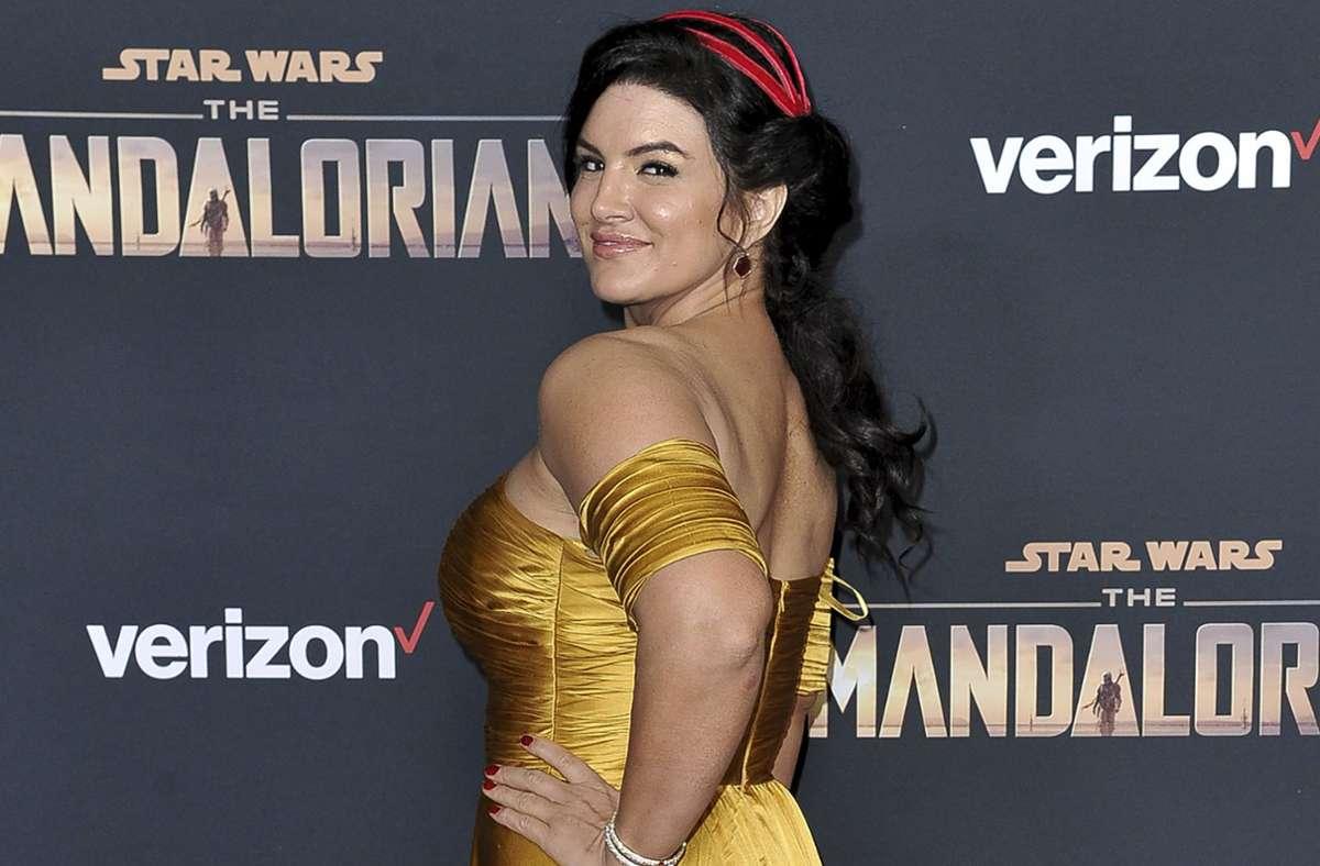 """Bisher spielte sie die Rolle der Kopfgeldjägerin Cara Dune in """"The Mandalorian""""  –  Die Schauspielerin Gina Carano. Foto: dpa/Richard Shotwell"""