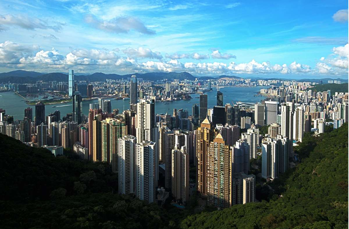 Teil der Nordküste von Hongkong – Blick vom Victoria Peak. Foto: CC BY-SA 4.0