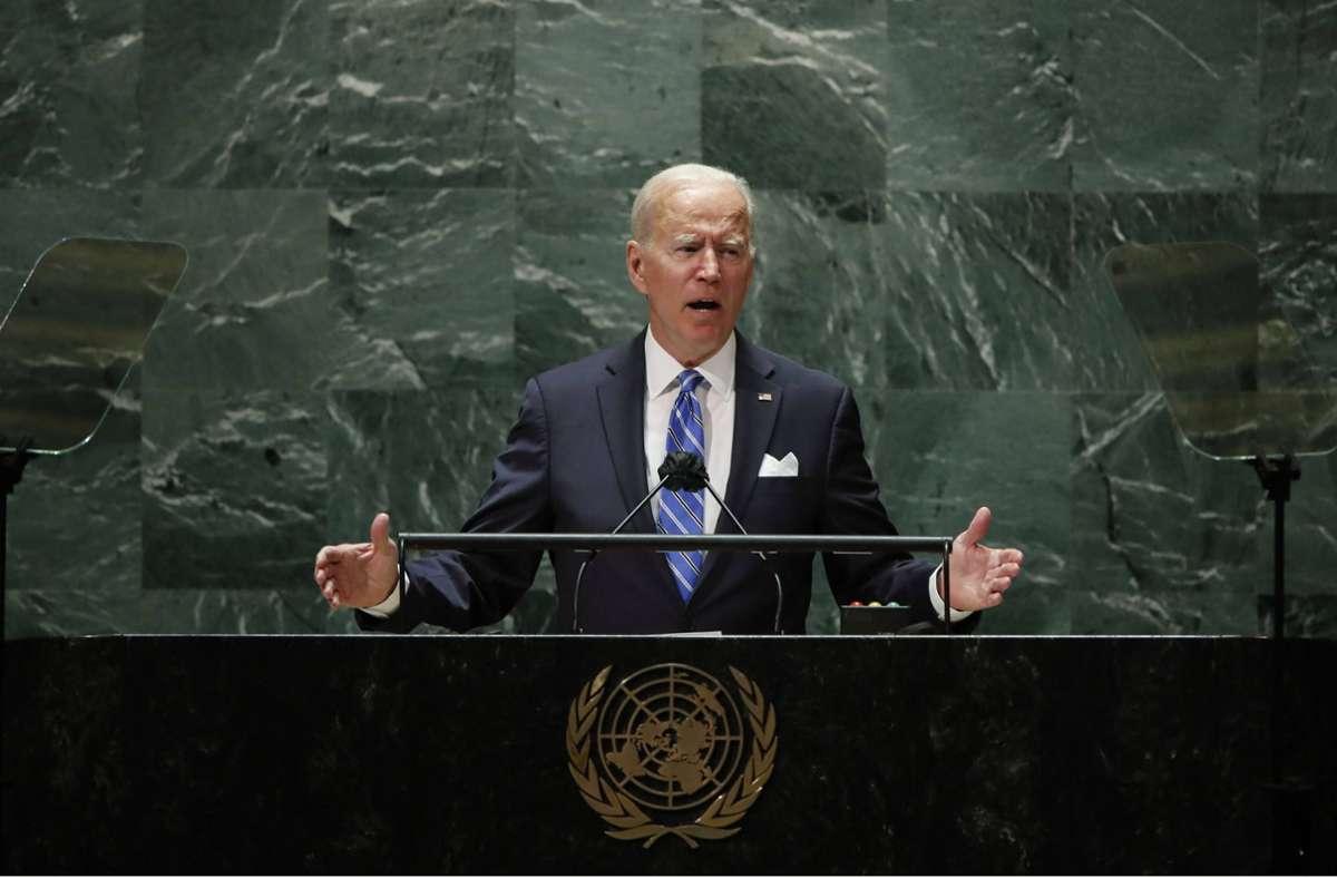 US-Präsident Joe Biden betonte vor der UN, er wolle eine neue Blockbildung zwischen Ost und West verhindern. Foto: imago images/UPI Photo/EDUARDO MUNOZ via www.imago-images.de