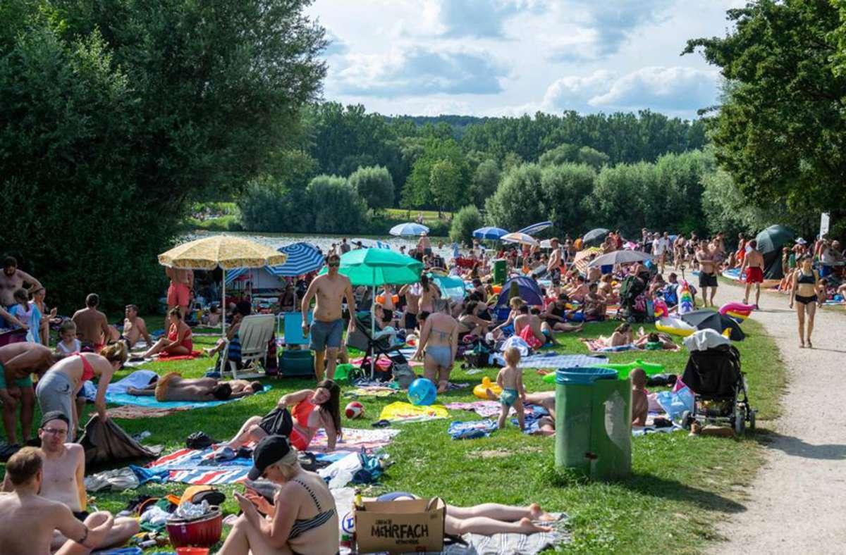 Der See lockte am vergangenen Wochenende viele Besucher an. Foto: 7aktuell.de