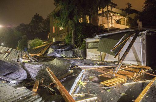 Unwetterschäden vor allem im Süden und in der Mitte Deutschlands