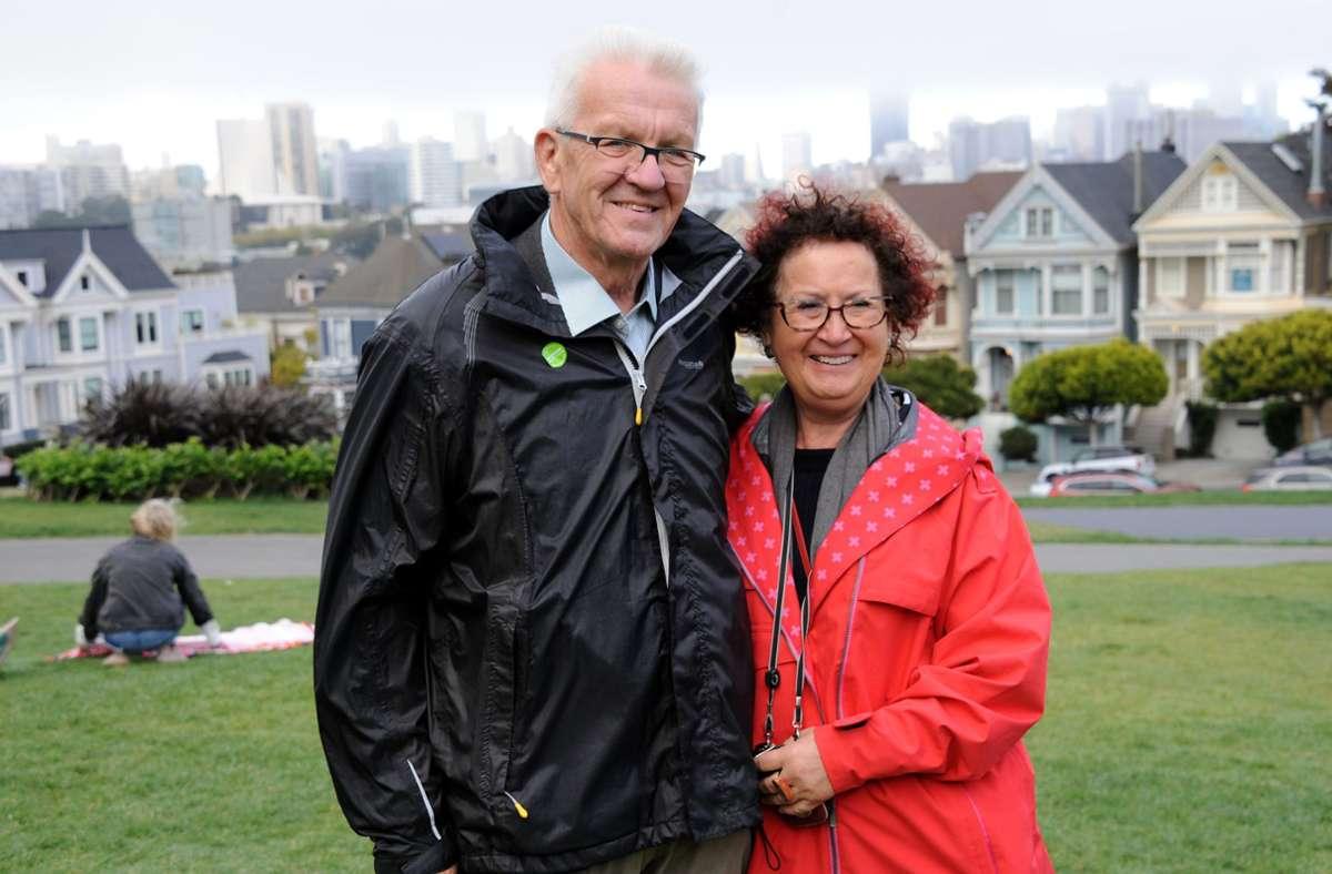 MP Winfried Kretschmann und seine Frau Gerlinde (Archivbild) Foto: dpa/Nico Pointner