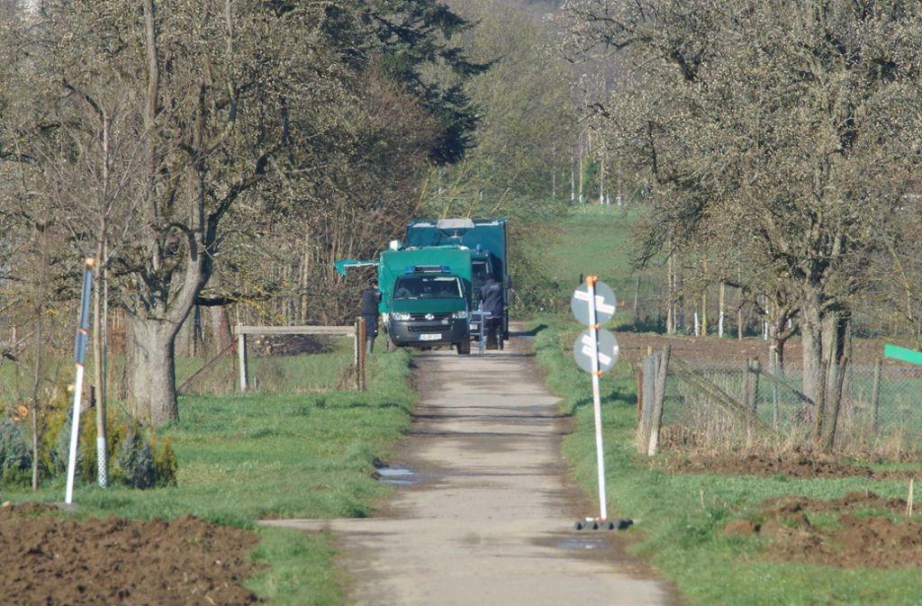 Auf einem Feld zwischen Möhringen und Sonnenberg befand sich die Bombe. Foto: Andreas Rosar Fotoagentur-Stuttg/Andreas Rosar Fotoagentur-Stuttg