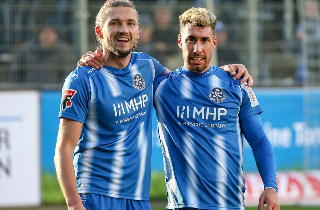 Christian Giles und Mijo Tunjic waren die Torschützen in Linx. Foto: Pressefoto Baumann/Alexander Keppler