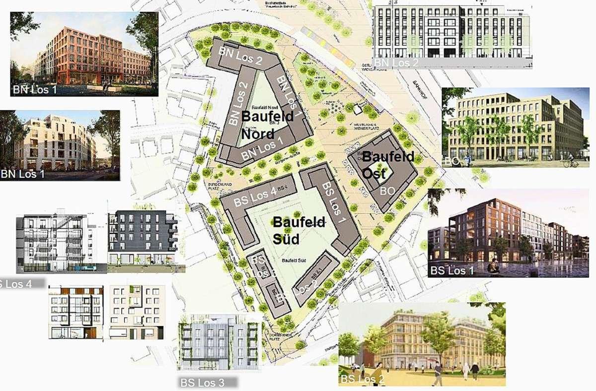 Die rund 170 Wohnungen im  Quartier am Wiener Platz sollen  2023/2024 bezugsfertig sein Foto: Landeshauptstadt Stuttgart