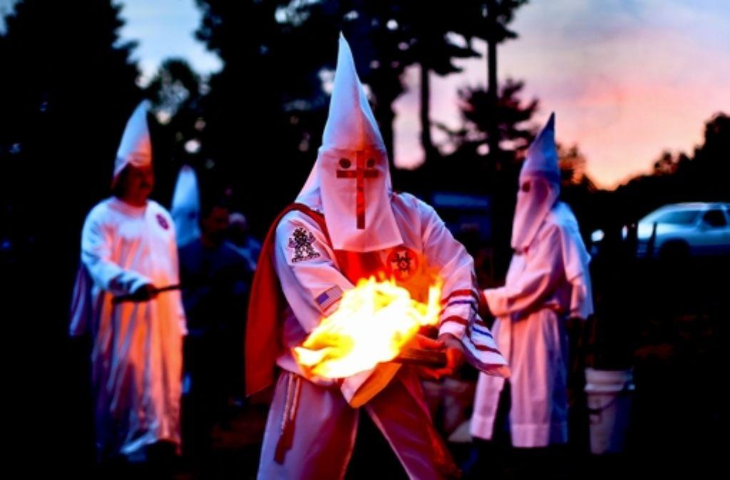 Der Ku-Klux-Klan hat auch im Südwesten schon  sein Unwesen getrieben. Foto:dpa Foto: