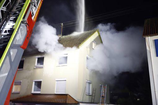Brand in Remseck - eine Person vermisst
