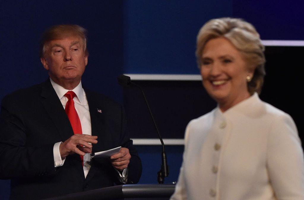 US-Präsident Donald Trump (links) und seine Ex-Gegenkandidatin Hillary Clinton (Arhcivbild) Foto: AFP