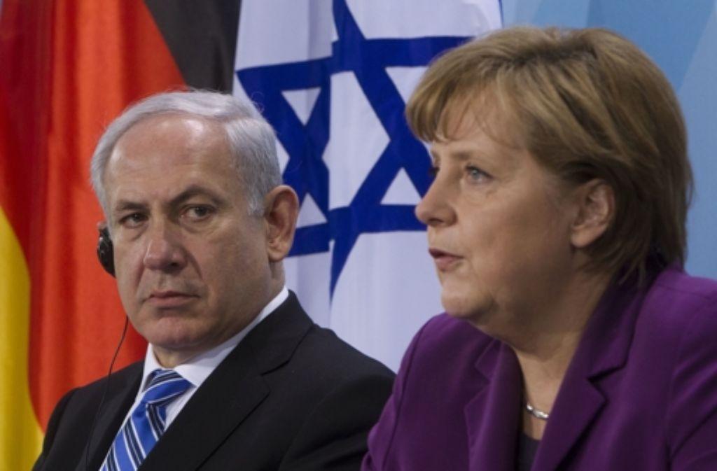 Ministerpräsident Netanjahu und Kanzlerin Angela Merkel Foto: dpa