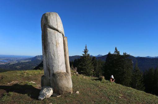 Holzphallus –  Schluss mit lustig
