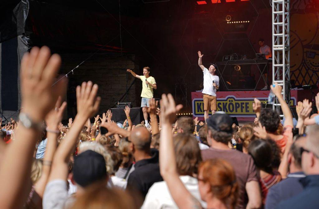 Deine Freunde feiern auf der Freilichtbühne Killesberg mit vielen Fans und deren Eltern. Foto: Lichtgut