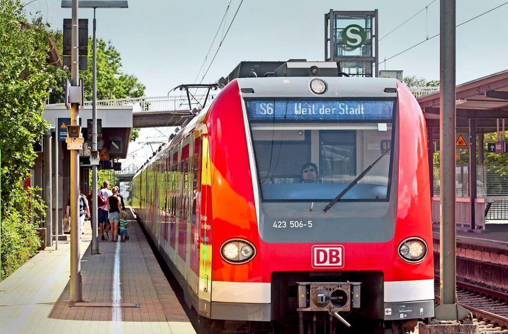 Die S-Bahn fährt bis Weil der Stadt. Bald trifft sie dort die Hesse-Bahn. Foto: factum/Granville