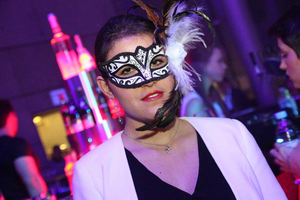 Wer verbirgt sich hinter der Maske? Fifty Shades of Grey-Party im Ufa-Palast in Stuttgart. Foto: www.7aktuell.de | Jonas Oswald