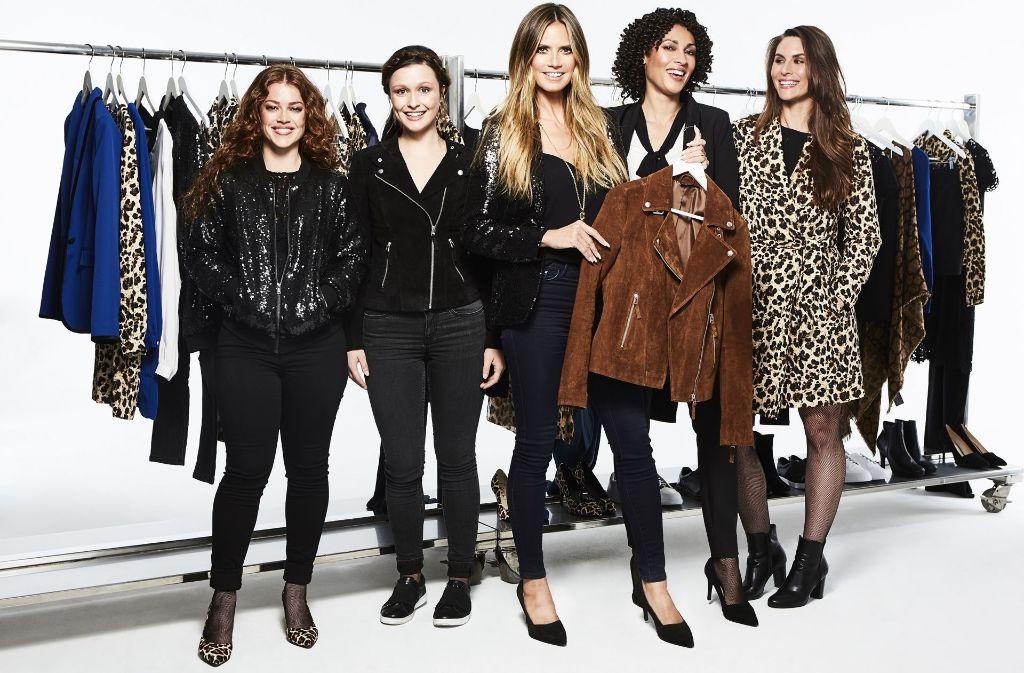 Das Kernstück der Kollektion von Heidi Klum: eine braune Lederjacke. Immer mehr Stars designen für kostengünstige Läden. Foto: obs/Lidl